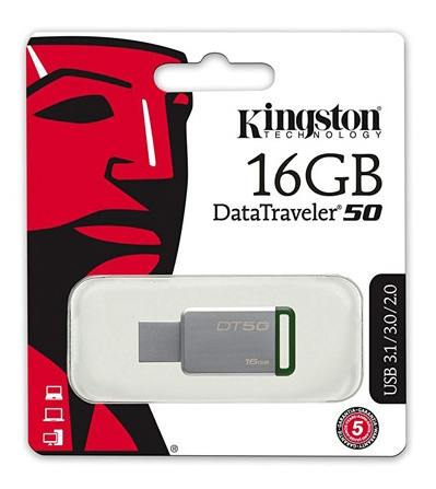 Memoria USB 3.0 16GB Kingston DT50