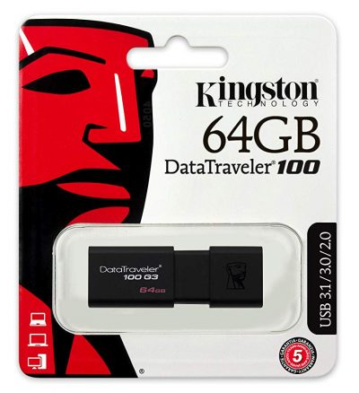 Memoria USB 3.0 64GB Kingston DT100